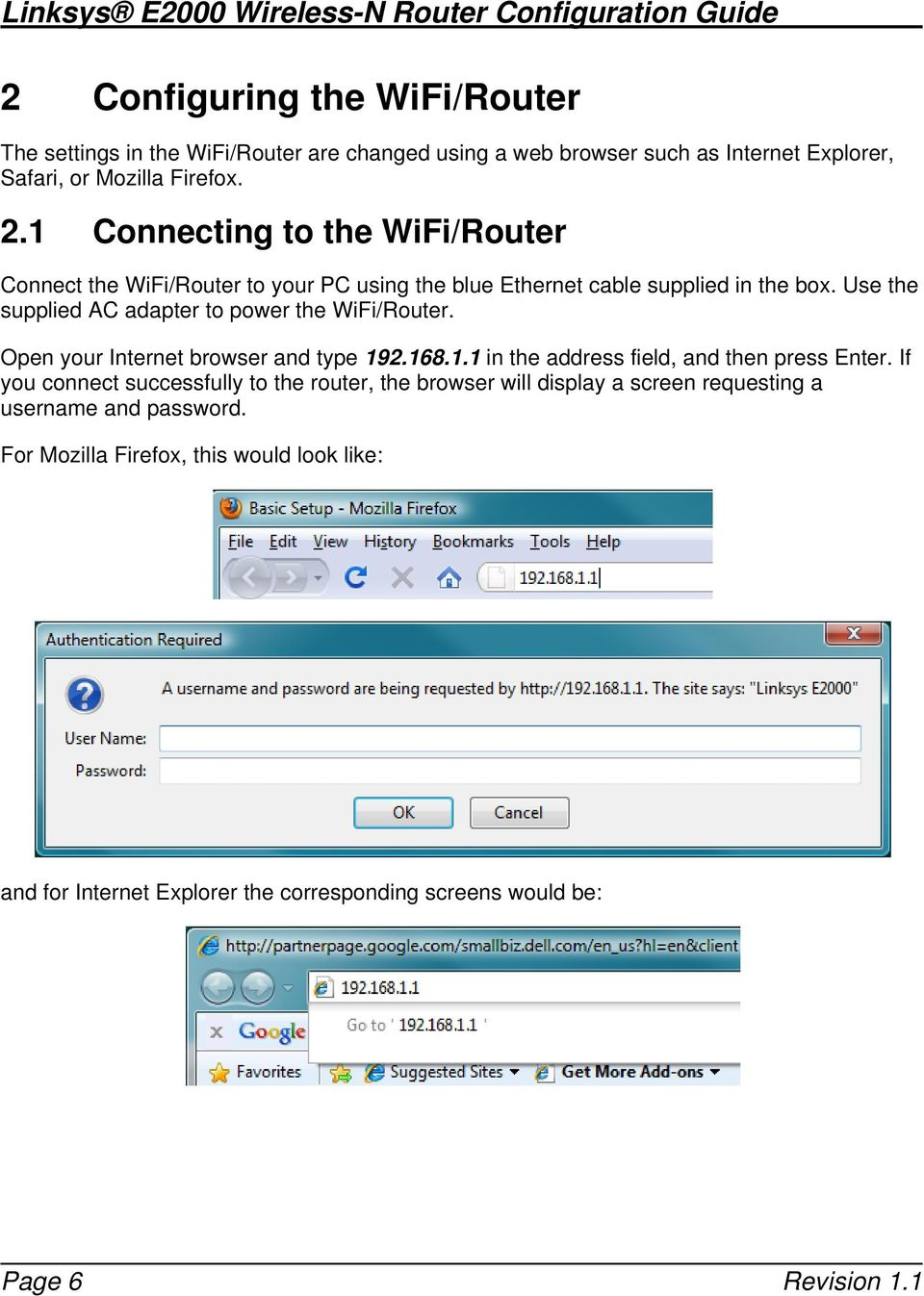 Linksys E2000 Wireless-N Router Configuration Guide - PDF