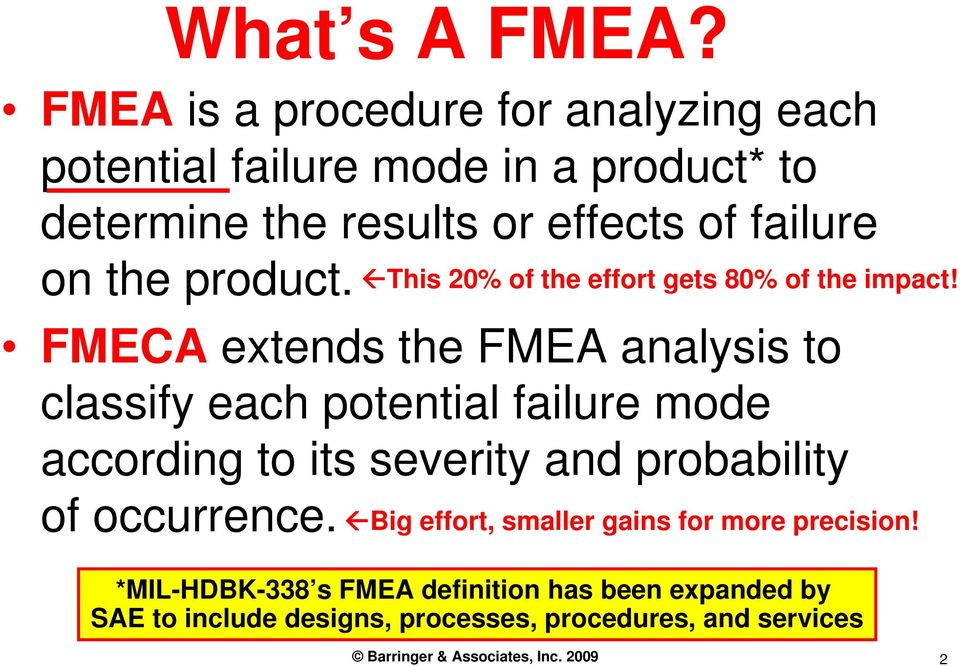 Failure Mode And Effects Analysis (FMEA) - PDF
