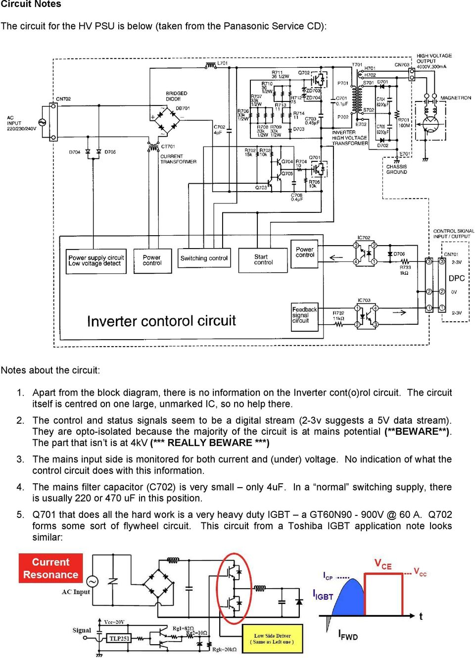 Panasonic Microwave Oven Inverter Hv Power Supply Pdf The Ne555 Fm Modulation Circuit Controlcircuit Diagram Control And Status Signals Seem To Be A Digital Stream 2 3v Suggests