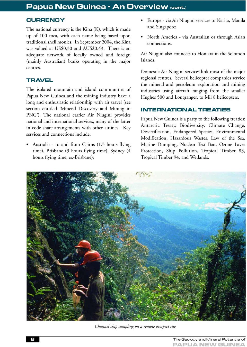 The Geology and Mineral Potential of PAPUA NEW GUINEA