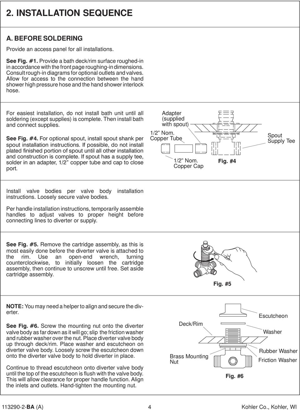 Two Way Diverter With Three Hand Shower Pdf Faucet Repair Parts Besides Valve Diagram For Easiest Installation Do Not Install Bath Unit Until All Soldering Except Supplies
