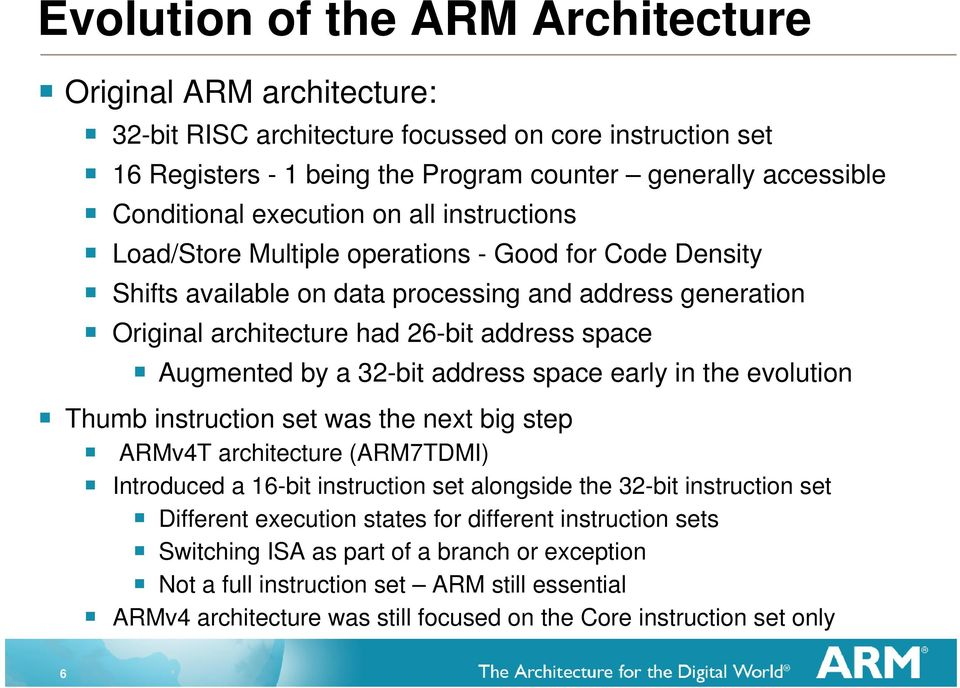 Lessons From The Arm Architecture Richard Grisenthwaite Lead