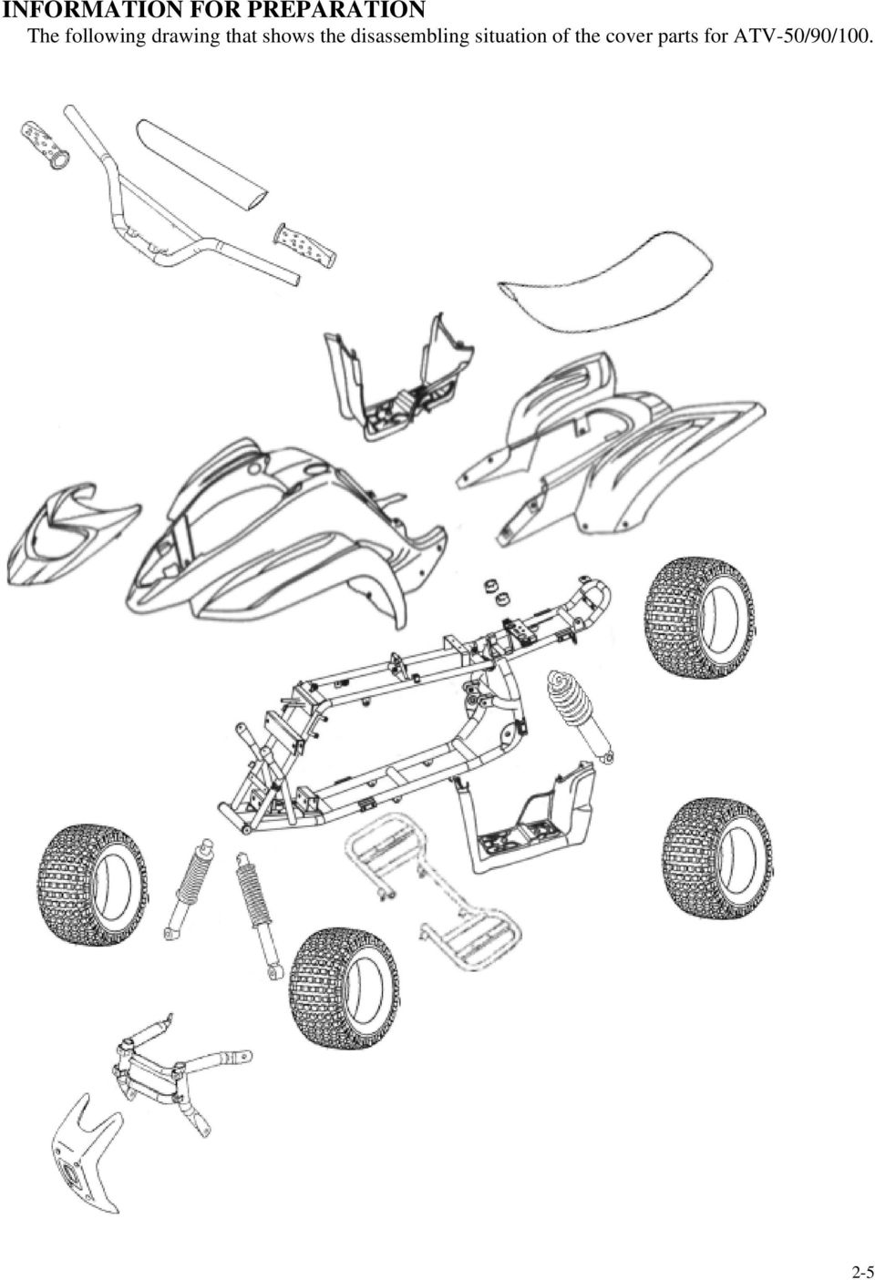 Service Manual Atv 50 90 100 Her Chee Industrial Co Ltd Carburetor Section Parts Diagram And List For Kubota Riding The Disassembling Situation Of