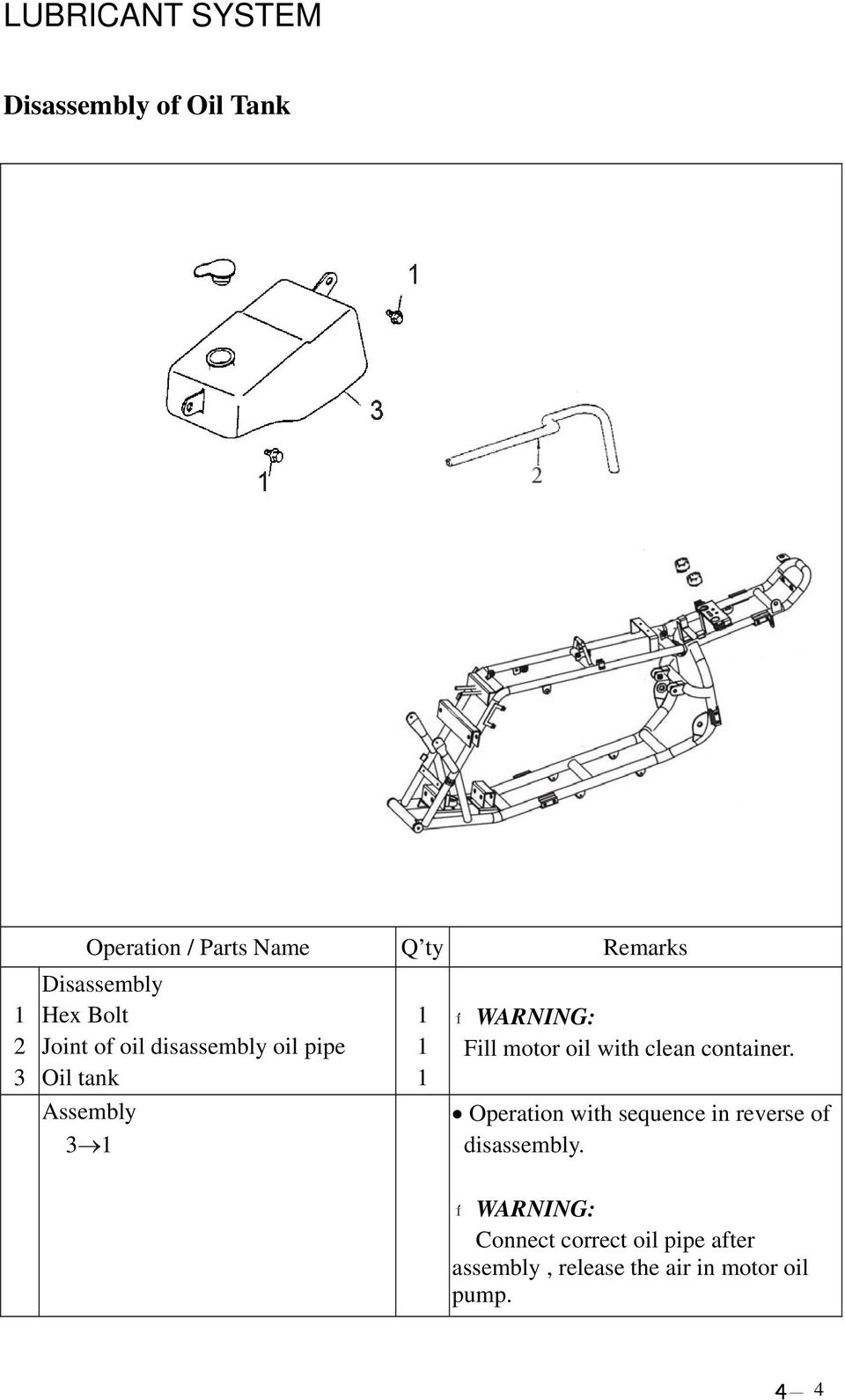 Service Manual Atv 50 90 100 Her Chee Industrial Co Ltd Carburetor Section Parts Diagram And List For Kubota Riding Fill Motor Oil With Clean Container