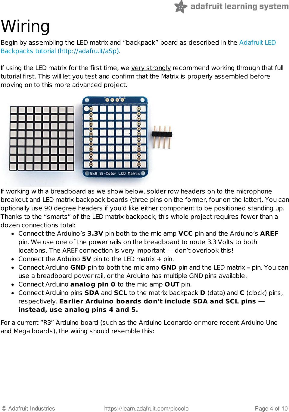 Tiny Arduino Music Visualizer Pdf Mega And Leonardo Pinout Diagrams Adafruit Industries This Will Let You Test Confirm That The Matrix Is Properly Assembled Before Moving On