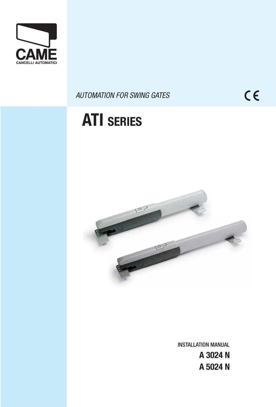 Automation For Swing Gates Ati Series Installation Manual A