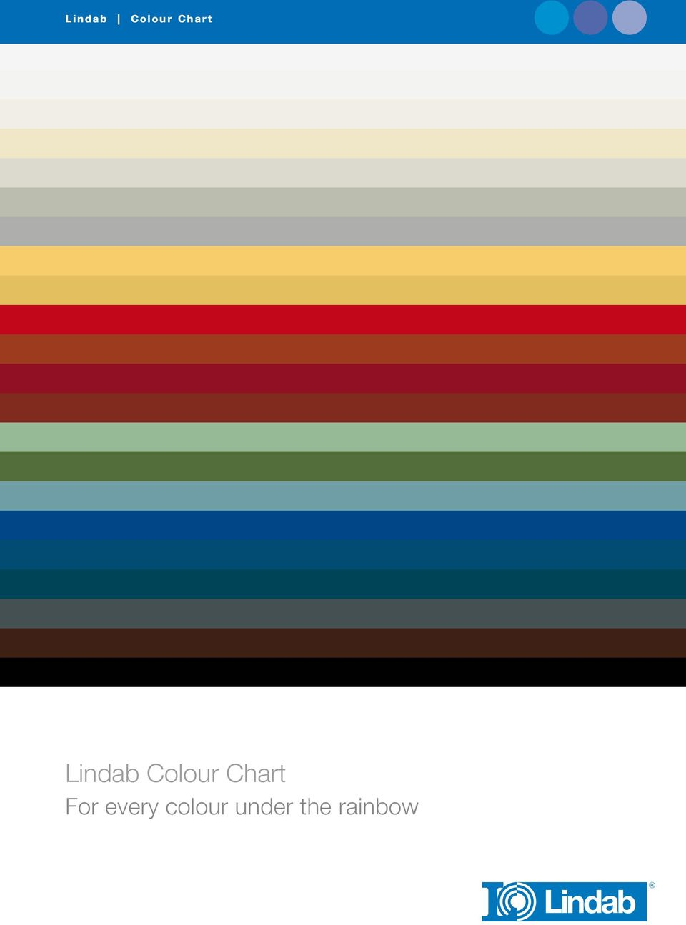 Lindab Colour Chart For Every Colour Under The Rainbow Pdf