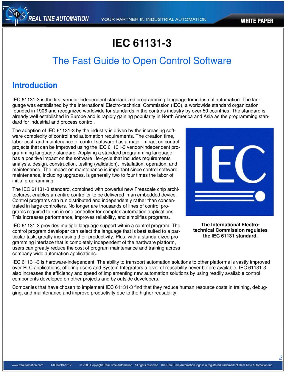 IEC The Fast Guide to Open Control Software - PDF