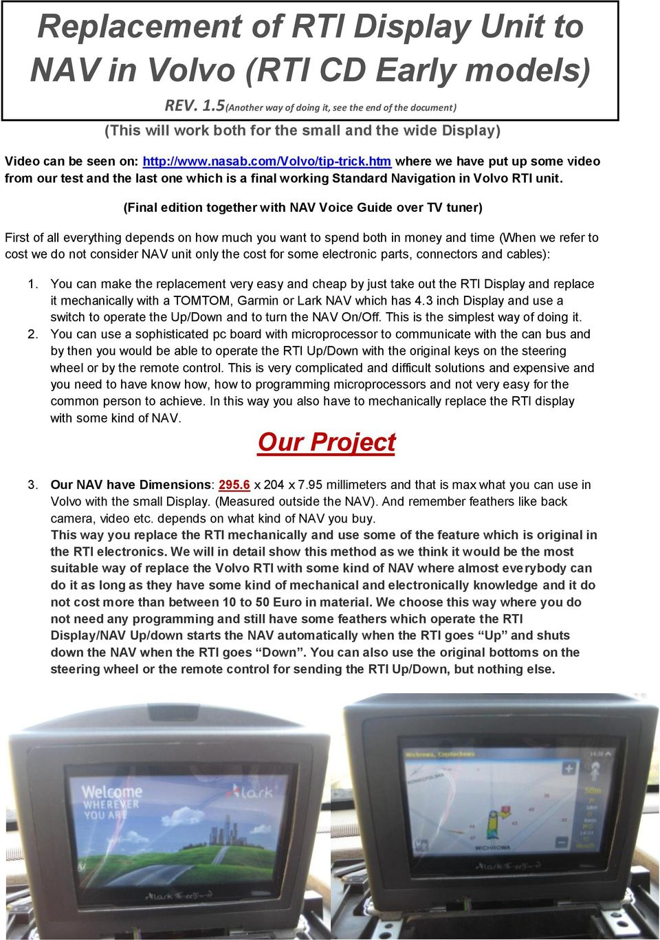 replacement of rti display unit to nav in volvo rti cd early models rh docplayer net Quick Start Guide Quick Guide to Health Literacy