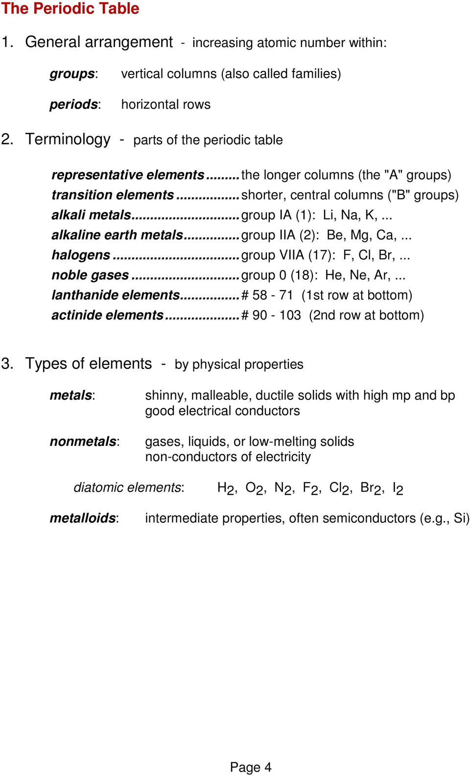 Atoms Elements And The Periodic Table Chapter 2 Pdf