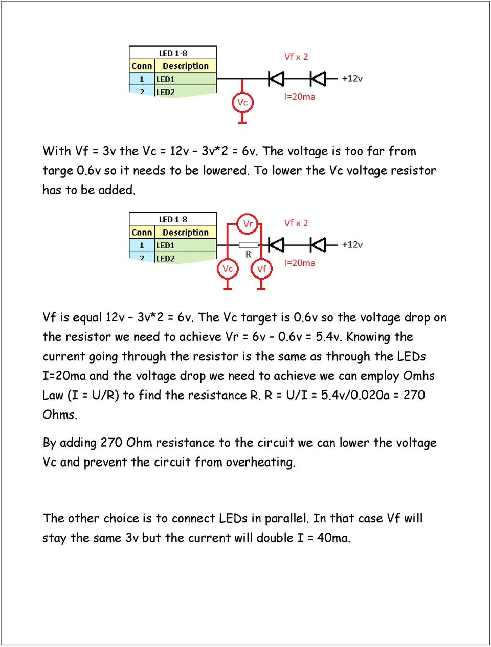 Advanced Led Controller Chaser Pdf 9v Circuit Calculation How To Calculate Series Resistor Watts Knowing The Current Going Through Is Same As Leds I