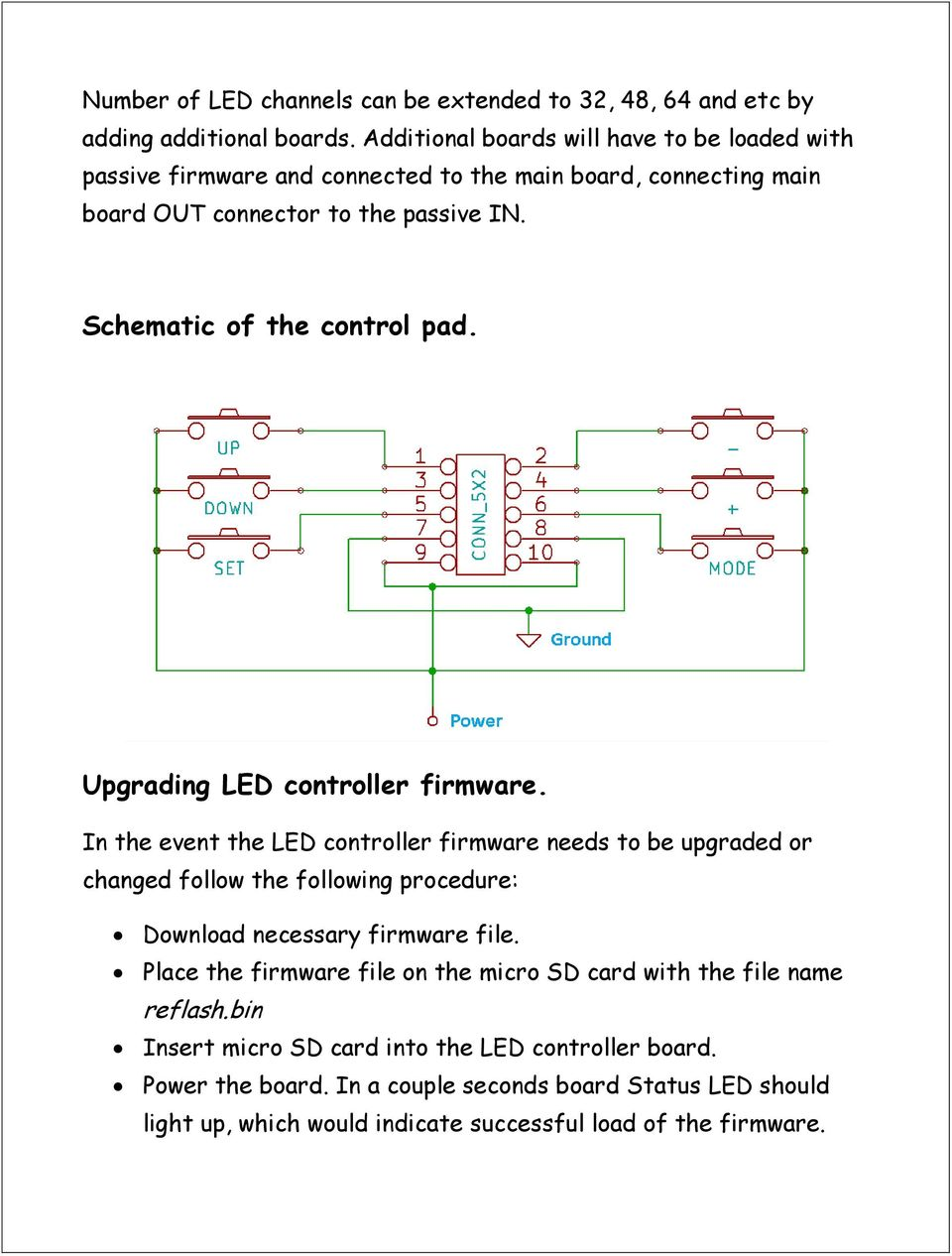 Advanced Led Controller Chaser Pdf Circuit Diagram Schematic Of The Control Pad Upgrading Firmware