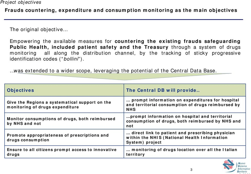 The drugs tracking system in Italy Brussels, 14th September - PDF