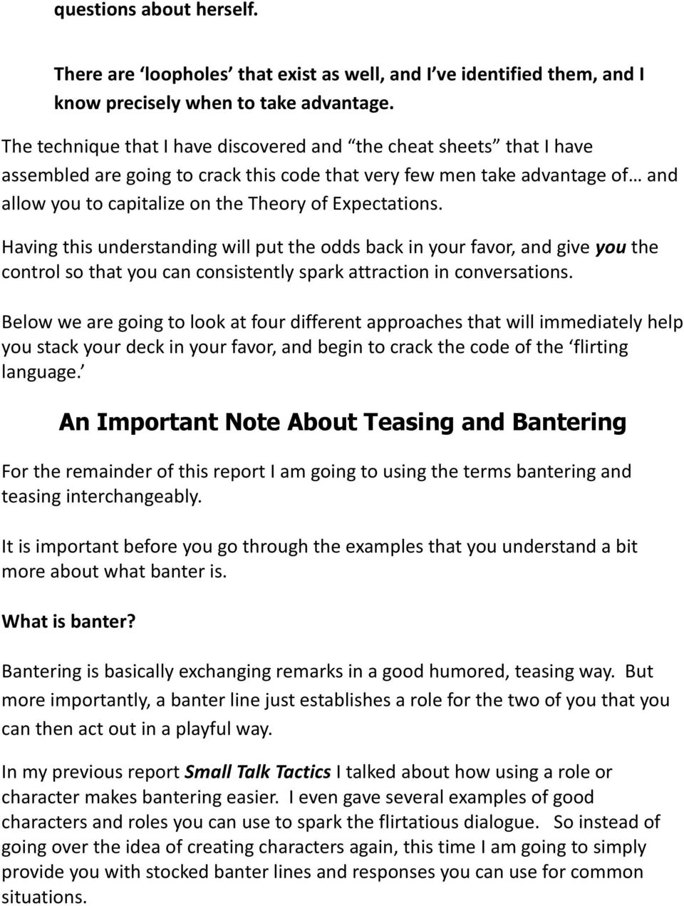 Teasing and banter line cheat sheets pdf having this understanding will put the odds back in your favor and give fandeluxe Image collections