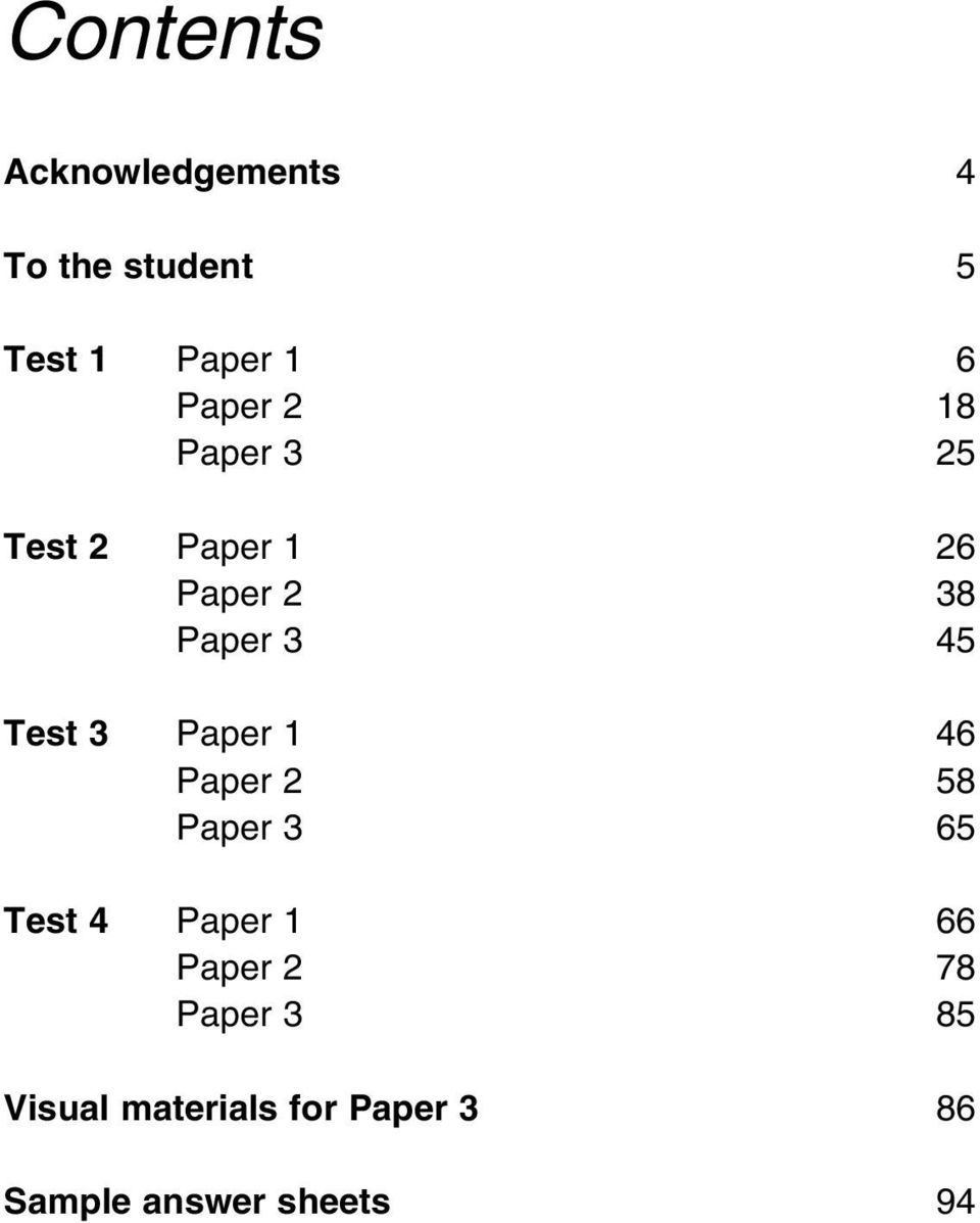 Cambridge Key English Test 1  Examination papers from