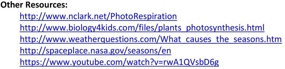 com/files/plants_photosynthesis.html http://www.weatherquestions.