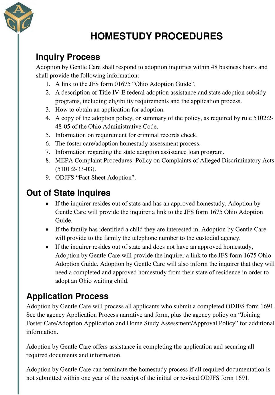 Adoption Home Study Ohio The Y Guide