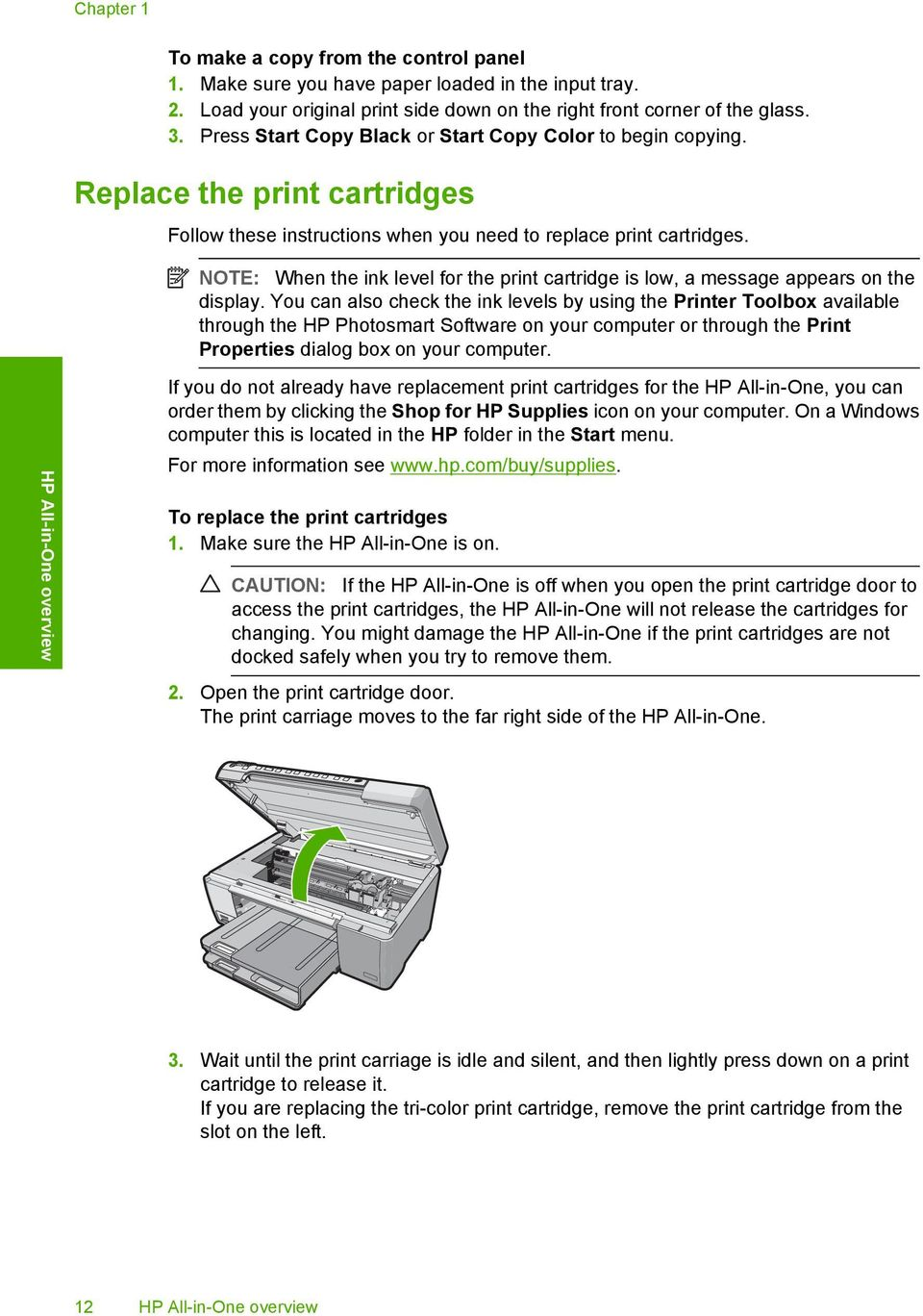 HP Photosmart C5200 All-in-One series  Basics Guide - PDF