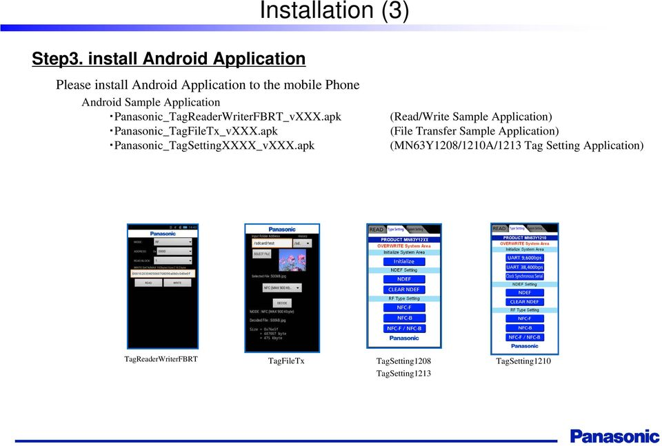 Panasonic NFC-tag Development kit Installation Manual - PDF