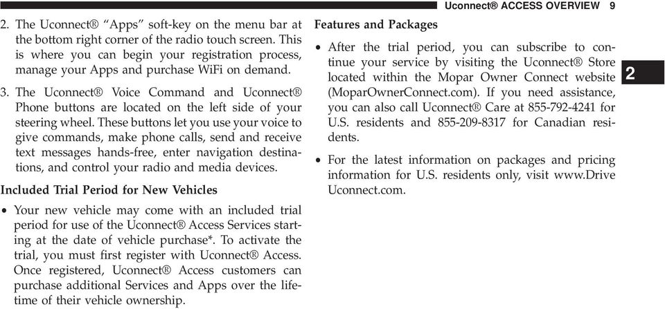 Uconnect  8 4A/8 4AN Owner s Manual Supplement - PDF
