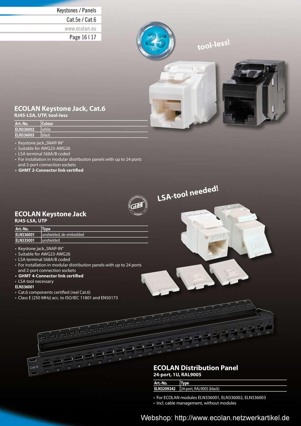 Ecolan Our Promise Your Success Phone 0 Fax Pdf Rj45 Keystone Jack Wiring Diagram On Eia 568b For Cat 6 Jacks 24 Ports And 2 Port Connection Sockets Ghmt Connector Link Certified Lsa
