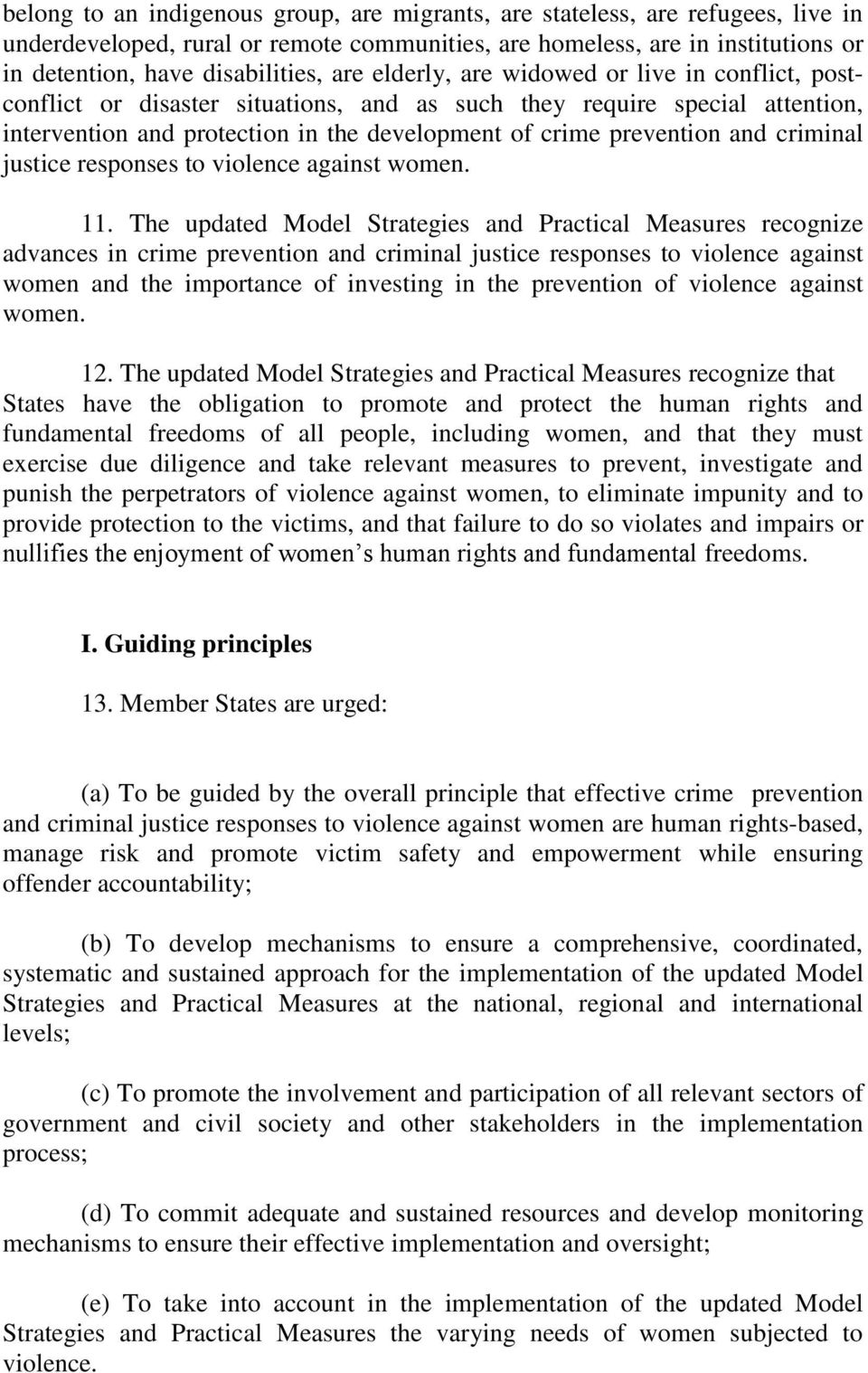 criminal justice responses to violence against women. 11.