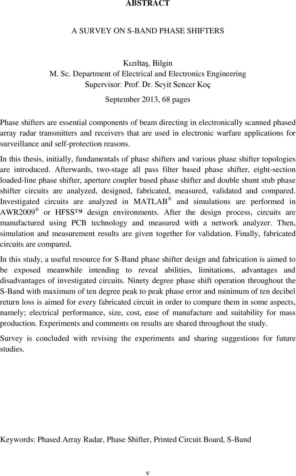 A Survey On S Band Phase Shifters Pdf Printed Circuit Board Assemblies Gt Radar Inc Warfare Applications For Surveillance And Self Protection Reasons In This Thesis Initially
