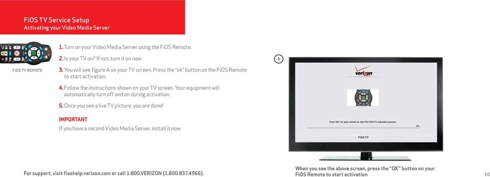 FiOS Self-Installation guide for VIDEO MEDIA SERVER