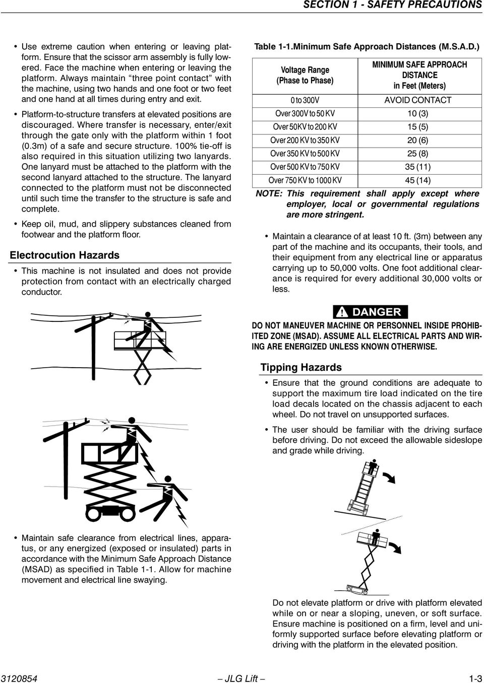 Operators Safety Model 1932e2 2032e2 2632e2 2646e2 3246e2 June Jlg Wiring Diagram Platform To Structure Transfers At Elevated Positions Are Discouraged Where Transfer Is Necessary