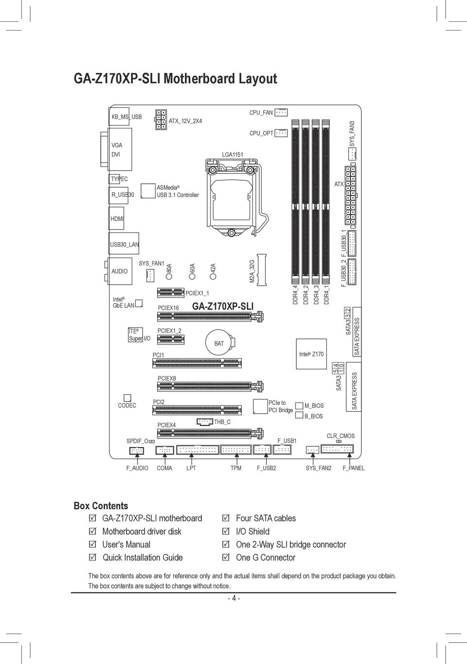 GA-Z170XP-SLI  User's Manual  Rev ME-Z17XPSL-1002R  For more