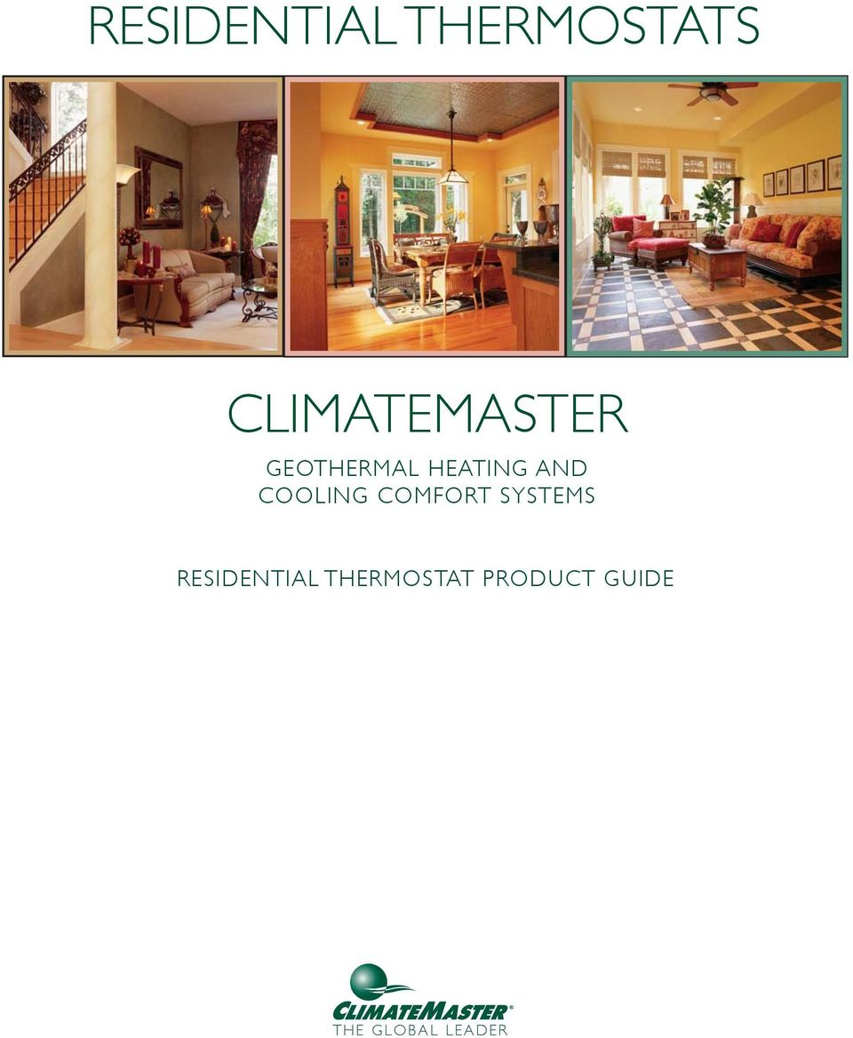 Residential Thermostats Climatemaster Pdf Climate Master Wiring Diagram Transcription