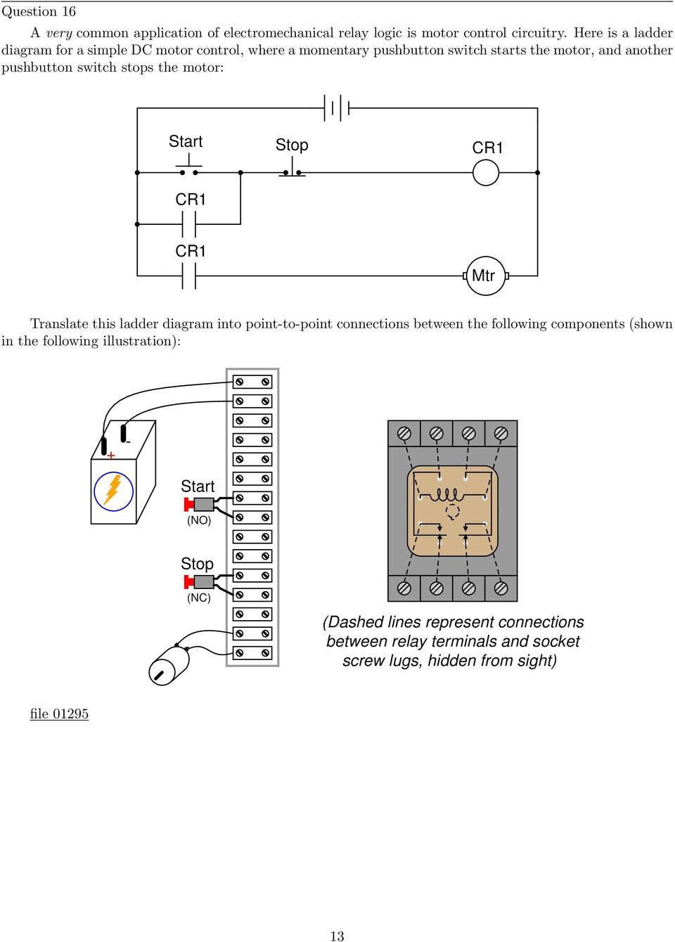 Electromechanical Relay Logic Pdf Diagram Of Xor Gate Switch Stops The Motor Start Stop Mtr Translate This Ladder Into Point To