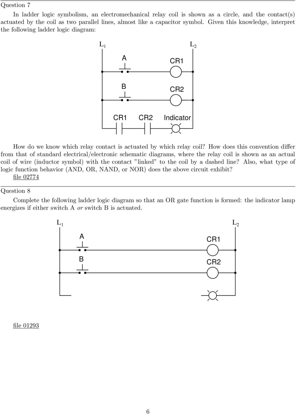 Electromechanical Relay Logic Pdf Ladder Diagram Images How Does This Convention Differ From That Of Standard Electrical Electronic Schematic Diagrams Where
