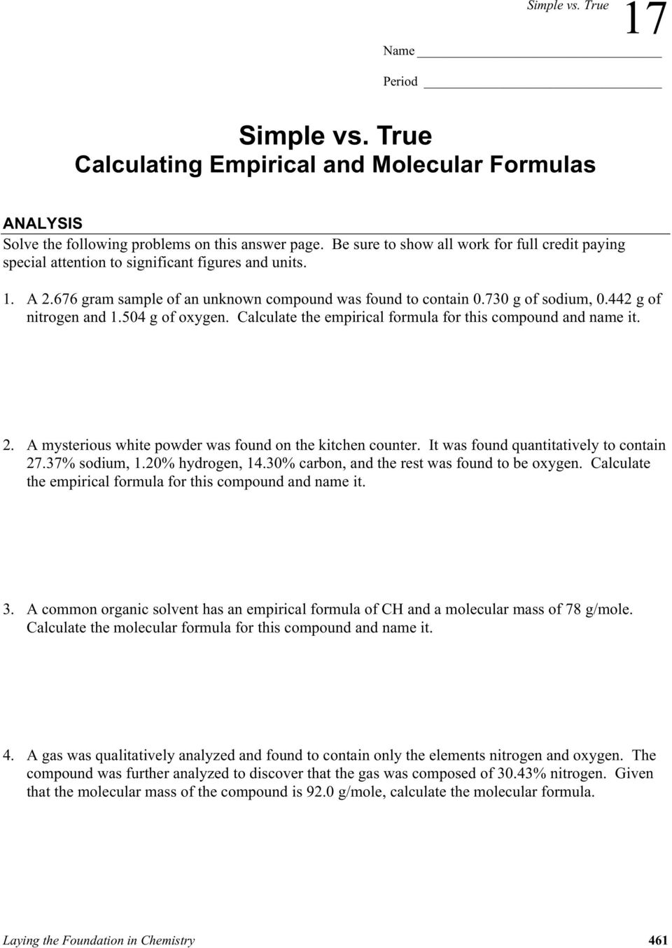 Simple Vs True Simple Vs True Calculating Empirical And