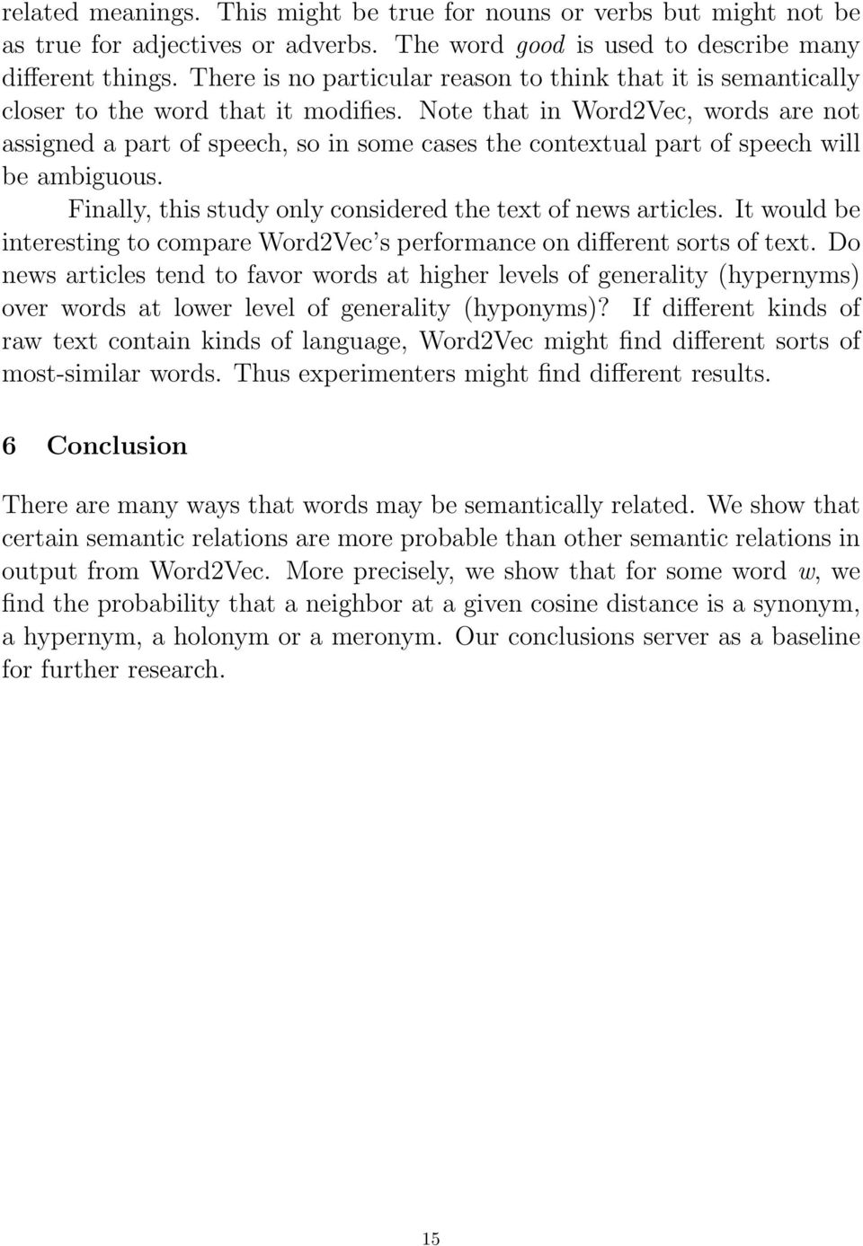 An empirical study of semantic similarity in WordNet and Word2Vec  A