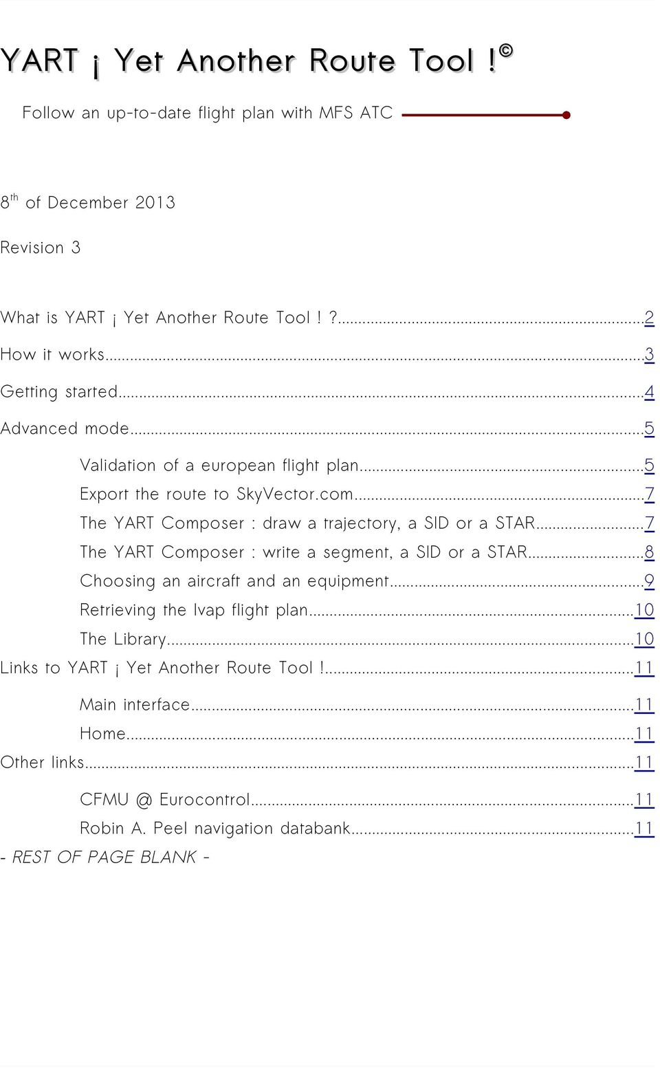 YART Yet Another Route Tool! - PDF