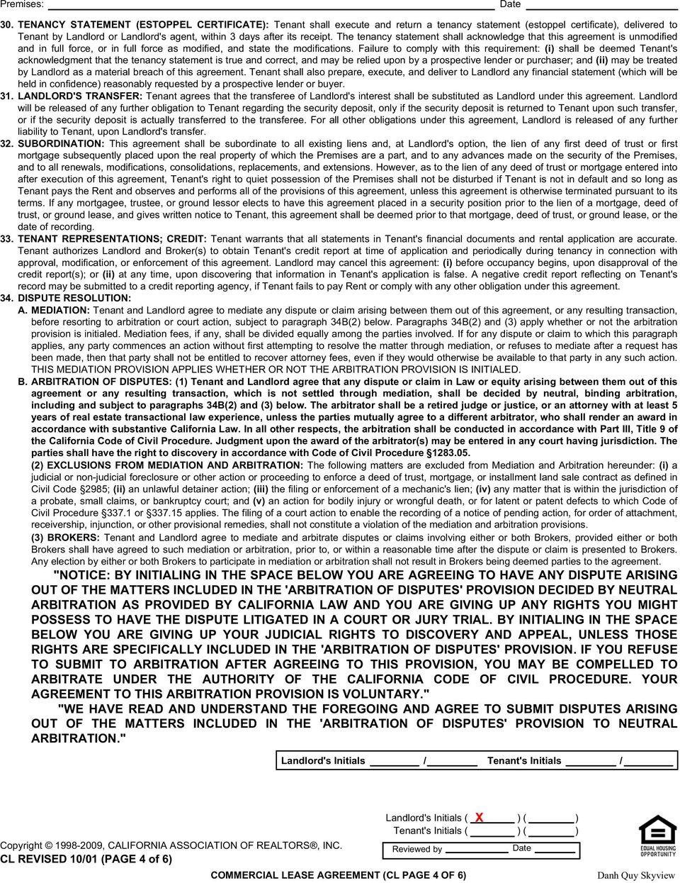 Commercial Lease Agreement Pdf