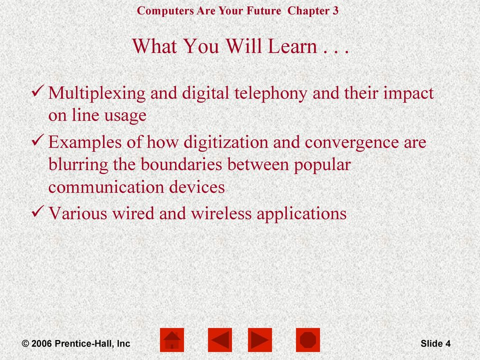 usage ü Examples of how digitization and convergence are blurring the