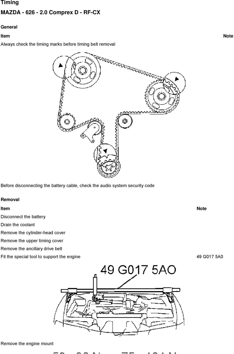 Vw Beetle 2 0 Timing Belt Marks