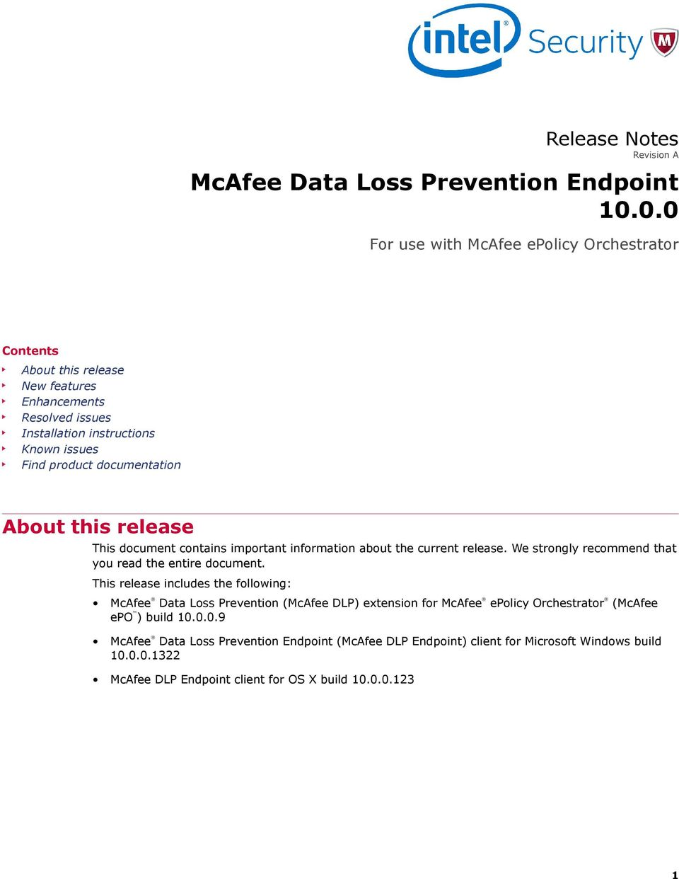McAfee Data Loss Prevention Endpoint - PDF