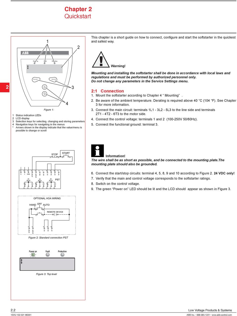 Standard Stop Start Motor Diagram Electrical Wiring Diagrams Wire For Three Button Station Installation And Maintenance Manual Softstarters Pst Pstb Pdf 3