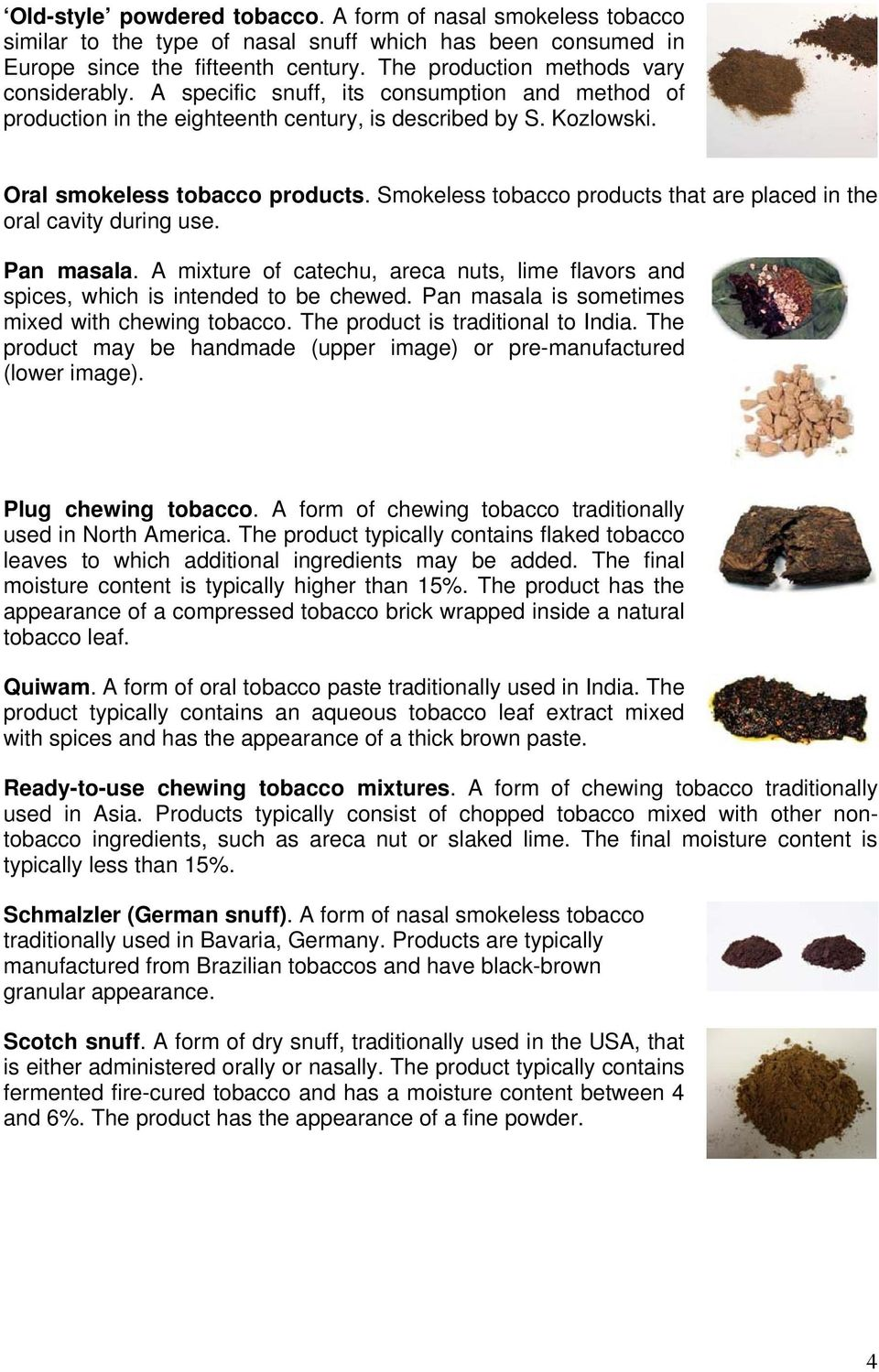 SMOKELESS TOBACCO GLOSSARY - PDF