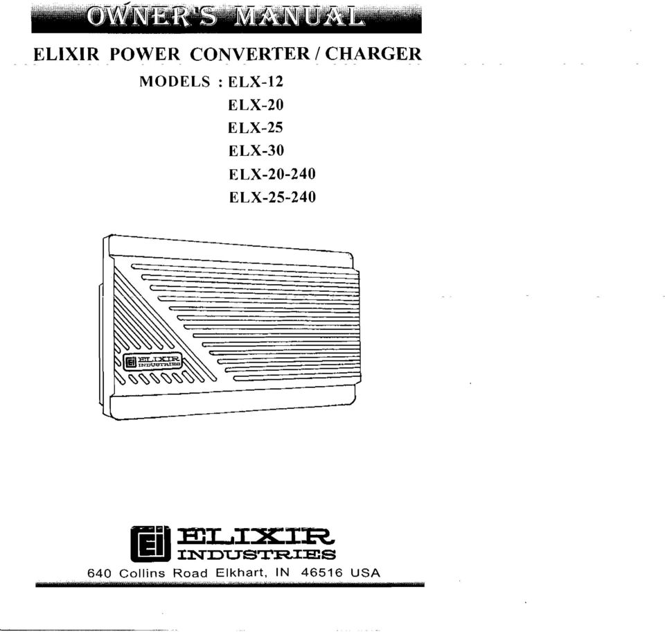 Elixir Power Converter Charger Pdf Wiring Diagram For Stand Alone Oil Supply Kit Transcription