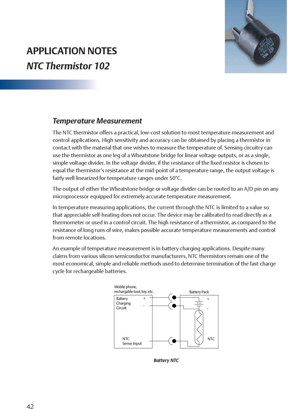 APPLICATION NOTES DEFINITIONS NTC Thermistor PDF