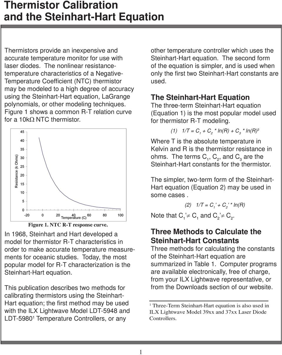 4  Thermistor Calibration and the Steinhart-Hart Equation - PDF