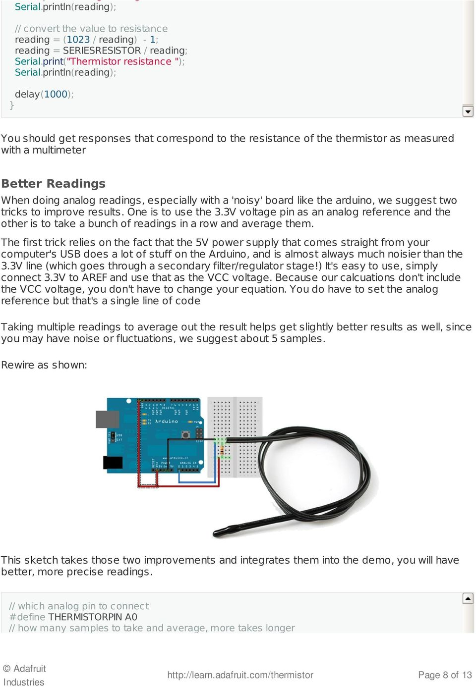 Thermistor Created By Ladyada Last Updated On 3046 Pm Edt Pdf Controlled Fan Circuit Using Electronics Circuits Printlnreading Delay1000 You Should Get Responses That Correspond