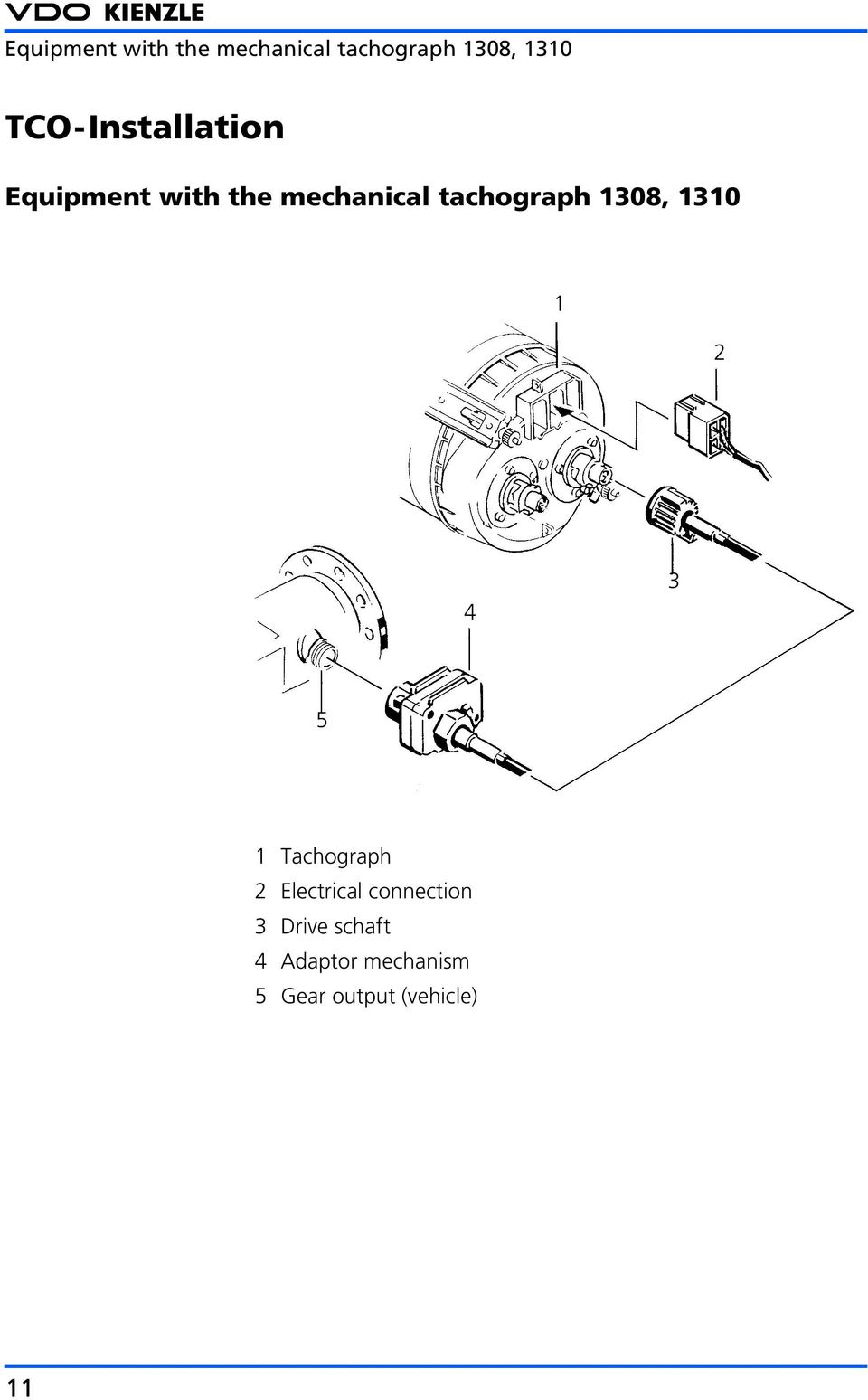 Vdo 1318 Tachograph Wiring Diagram Libraries Switch Boat Lift Bbremas Productinformation Tachographs In The Cva Market Pdfconnection 3 Drive Schaft 4 Adaptor Mechanism 5 Gear