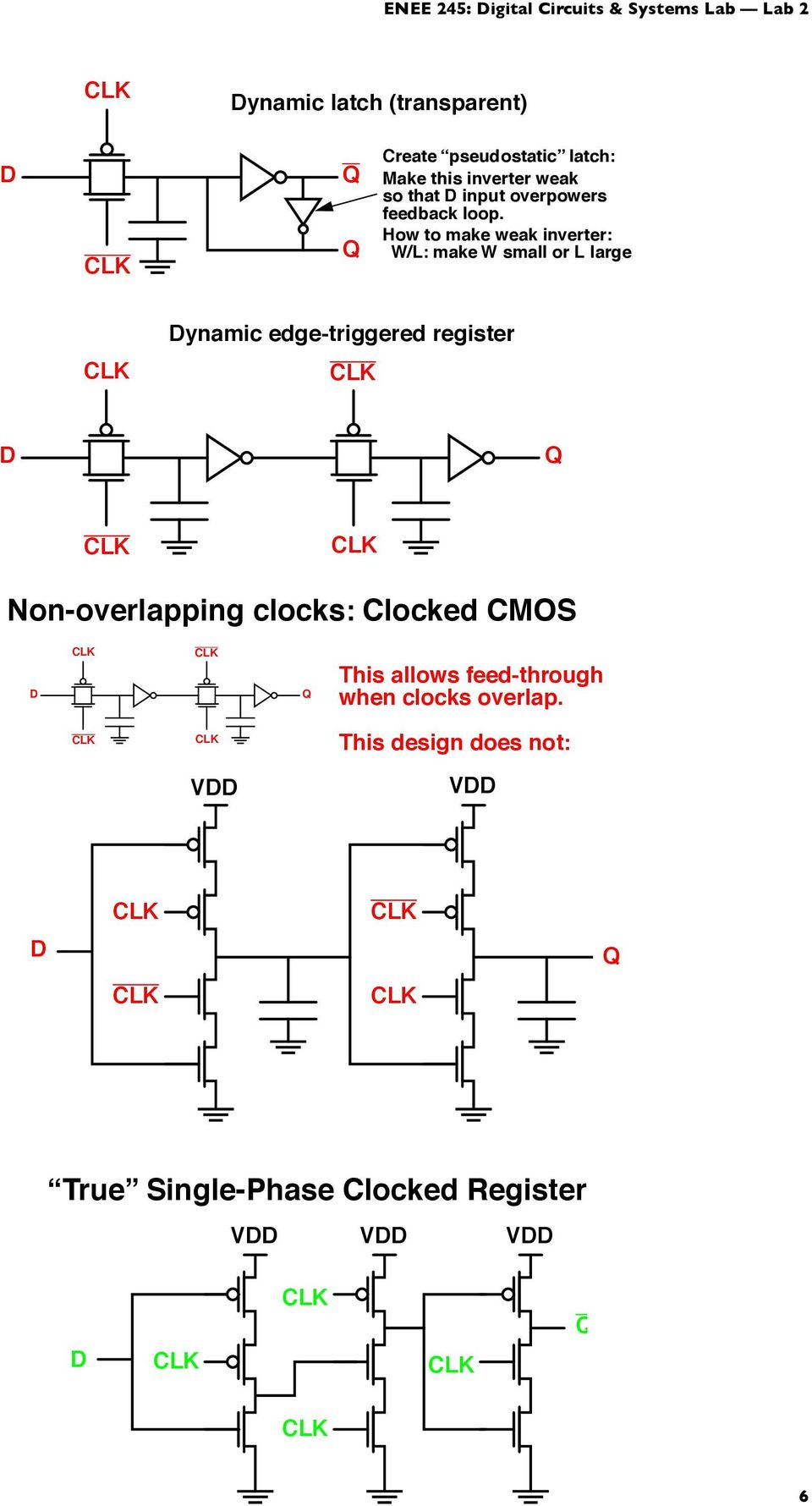 Sequential Logic Clocks Registers Etc Pdf D Latch Diagram This Inverter Weak So That Input Overpowers Feedback Loop