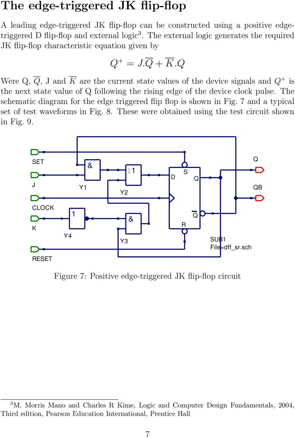Qucs A Tutorial Transient Domain Flip Flop Models For Mixed Mode Rs Using Op Amp Were J And K Are The Current State Values Of Device Signals