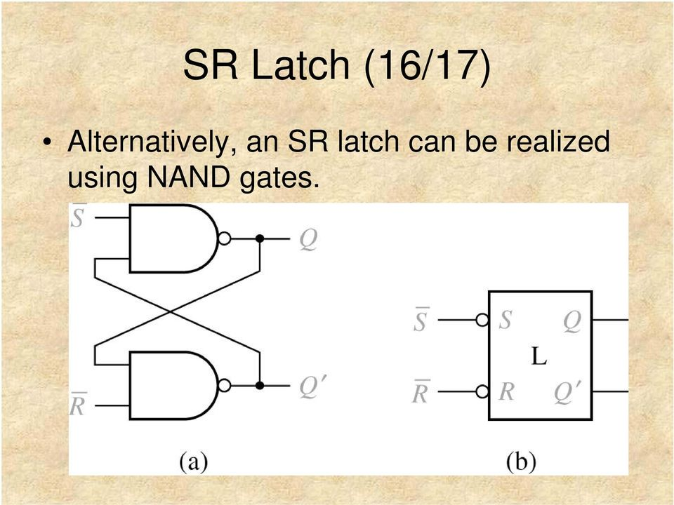 SR latch can be